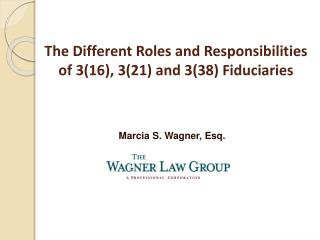 The Different Roles and Responsibilities    of 3(16), 3(21) and 3(38) Fiduciaries