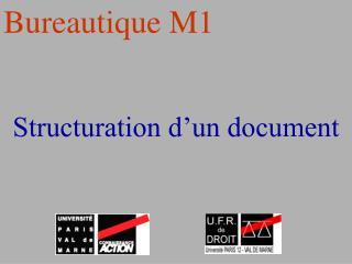 Structuration d'un document