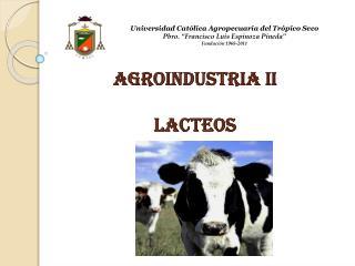 AGROINDUSTRIA II LACTEOS