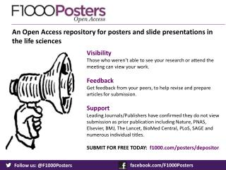 An Open Access repository for posters and slide presentations in the life sciences