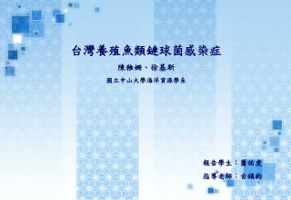台灣養殖魚類鏈球菌感染症 陳稚姍、徐基新 國立中山大學海洋資源學系
