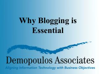 Why Blogging is Essential
