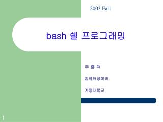 bash  쉘 프로그래밍