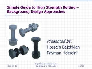 Simple Guide to High Strength Bolting – Background, Design  Approaches