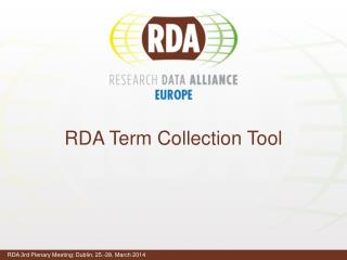 RDA Term  Collection Tool