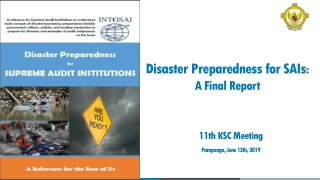 DISASTER PLANNING: An Overview