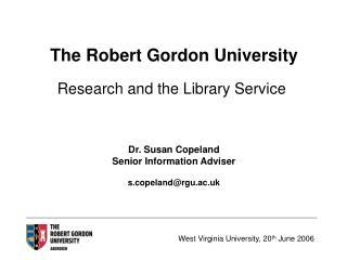 The Robert Gordon University
