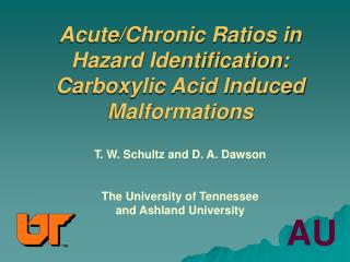 Acute/Chronic Ratios in Hazard Identification: Carboxylic Acid Induced Malformations