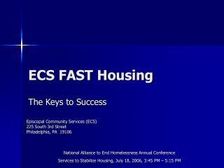 ECS FAST Housing