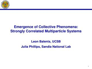 Emergence of Collective Phenomena: Strongly Correlated Multiparticle Systems
