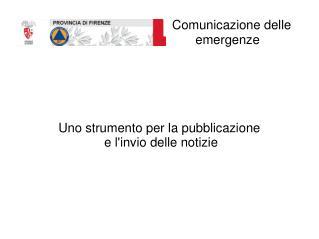 Comunicazione delle emergenze
