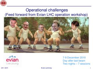 Operational  challenges ( Feed forward from Evian LHC operation workshop)