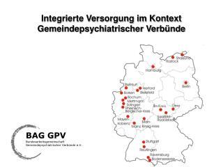Integrierte Versorgung im Kontext Gemeindepsychiatrischer Verbünde