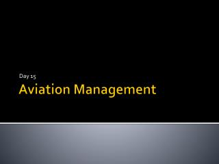 Aviation Management