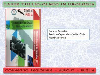 Donato  Barnaba Presidio Ospedaliero Valle d' Itria Martina Franca