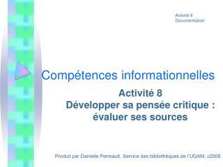 Compétences informationnelles