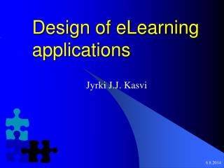 Design of eLearning applications