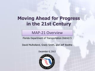 Moving Ahead for Progress  in the 21st Century