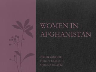 Women in Afghanistan