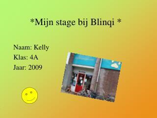 *Mijn stage bij Blinqi *