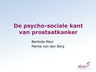 De psycho-sociale kant van prostaatkanker