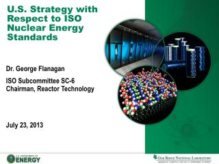 U.S. Strategy with Respect to ISO Nuclear Energy Standards