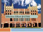 Effective Effort  ETHS