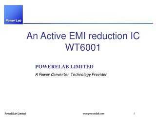 An Active EMI reduction IC WT6001