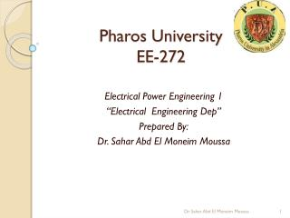 Pharos University EE-272
