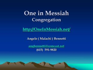 One in Messiah Congregation