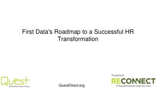 First Data's Roadmap to a Successful HR Transformation