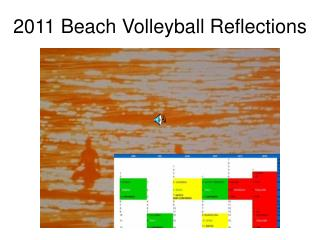 2011 Beach Volleyball Reflections