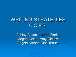 WRITING STRATEGIES C.O.P.S.