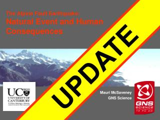 The Alpine Fault Earthquake : Natural Event and Human Consequences