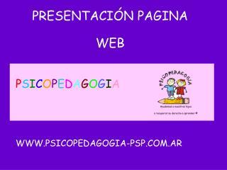 PRESENTACI�N PAGINA  WEB