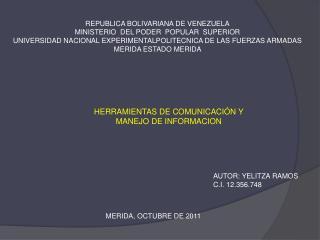 REPUBLICA BOLIVARIANA DE VENEZUELA MINISTERIO  DEL PODER  POPULAR  SUPERIOR