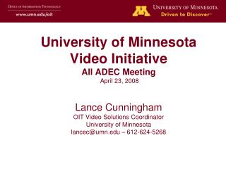 OIT Video Commons Investigation