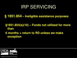 IRP SERVICING