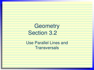 Geometry  Section 3.2