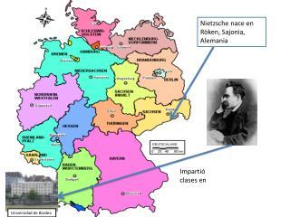Nietzsche nace en Röken, Sajonia, Alemania