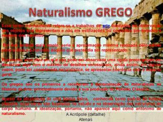 Naturalismo GREGO