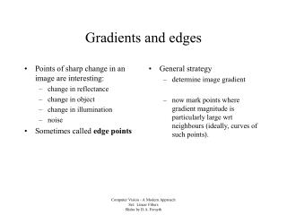 Gradients and edges