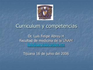 Curriculum y competencias