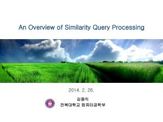 An Overview of Similarity Query Processing