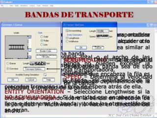 BANDAS DE TRANSPORTE