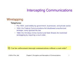 Intercepting Communications