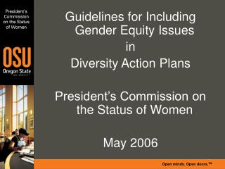 President�s Commission on the Status of Women
