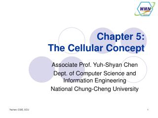 Chapter 5: The Cellular Concept