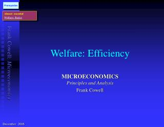 Welfare: Efficiency