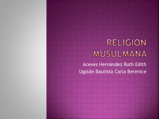 Religión musulmana